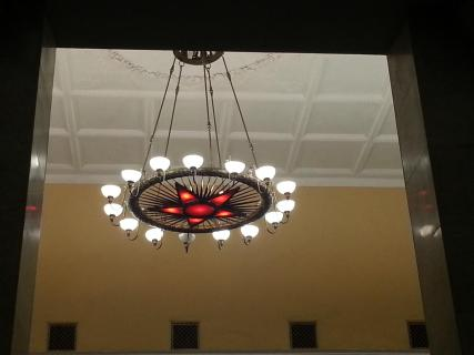chandelier with star